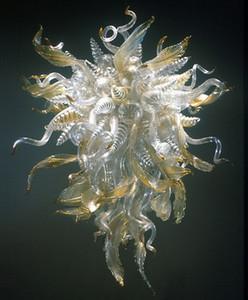 Lustre en verre de couleur ambre antique style lustre éclairage LED montage encastré pour salon chambre escalier Art déco
