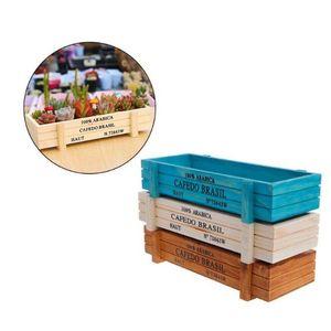 작은 레트로 화분 저장 상자 화분 재배자 꽃 냄비 컨테이너 박스 정원 홈 데스크탑 나무 장식 ZAKKA