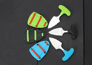 wholesale 3 color push knife karambit pocket knife Christmas Halloween Holiday gifts pocket knivest Free shippingWood handle push knife
