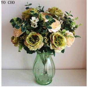 Partei Liefert Große Künstliche Pfingstrose Bouquet Hohe Qualität Großhandel Europäischen Simulation Rose Blume Künstliche Seidenblumen