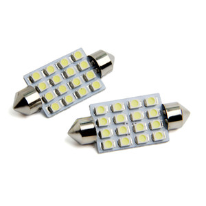 10X C5W 1210 16 LED 31mm 36mm 39mm 41mm Cúpula Festoon Dome Lâmpadas LED 16 SMD Luz Da Porta Do Carro Dome Roof Light Mix tamanho