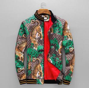 2018 printemps et automne nouvelle veste de mode col de mode pour les hommes jeunes décontracté col de veste pour hommes occasionnels de veste de tigre en duvet pour hommes