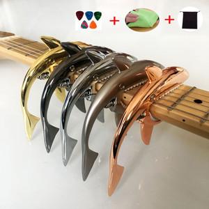 Shark Guitar Capo Zinklegierung Schnellwechselklemme Sharks Clip diakritische Transponder sparen Kraft und Langlebigkeit