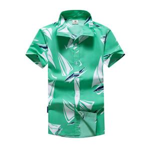 Nova camisa dos homens Árvore Estilo Verão Imprimir praia havaiana shirt Homens Hot Sale Casual manga curta Hawaii shirt Chemise Homme Asiático Tamanho 5XL