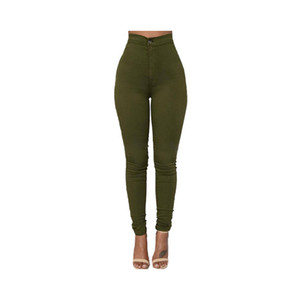 Mode Hohe Qualität Multicolor Frauen Skinny Jeans Hohe Taille Bleistift Stretch Casual Look Elastizität Frauen Jeans Kleidung