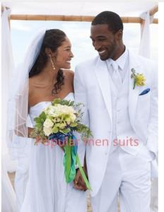 POPULAR Slim Fit Erkek Takım Elbise Ceket Pantolon Yelek Resmi Elbise Erkekler Suit Set Düğün Takımları Damat Smokin 3-piece
