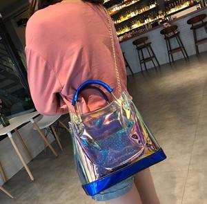 Borse laser per donna Borse trasparenti per donna PU trasparenti Borse colorate per borsa laser Hologram per bambina