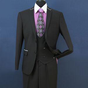 2018 New Slim Fit Groom Tuxedos Groomsmen Light Gray Side Vent Wedding Wedding Best Man Suit Trajes para hombres 3 piezas (chaqueta + chaleco + pantalones) ST008