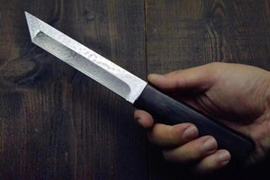 New Katana VG10 Damascus Steel Tanto Lâmina Ebony Handle fixo lâmina facas com faca de madeira Bainha Colecção