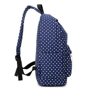 Großhandels-ZENBEFE Punkt-Frauen-Rucksack-Segeltuch-Taschen-Freizeit-Schultasche für Jugendmädchen-Laptop-Rucksack-Reise-Taschen, die Rucksäcke drucken