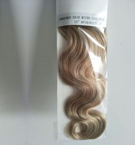 إمتدادات شعر الإنسان ذات الدائرة الدقيقة 200s جسم أسود وصلة الشعر إمتدادات الإنسان 0.5 gst 100g micro ring hair extensions, free DHL