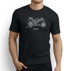 MV Agusta F4 2016 오토바이 아트 남자 티셔츠 영감을 얻은