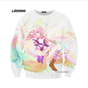 LIASOSO 2018 NEUE Anime Cosplay Kein Spiel Kein Leben 3D Print Sweatshirt Geschenk NGNL Sora Shiro UnisexClothing Langarm Kleidung G013