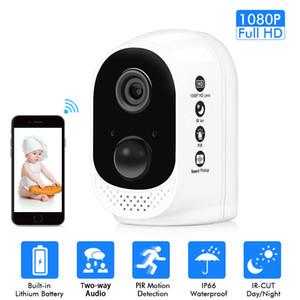 واي فاي بطارية الأمن كاميرا IP 1080P بطارية قابلة للشحن تعمل بالطاقة HD اللاسلكية الرئيسية السلامة الدوائر التلفزيونية المغلقة كاميرا PIR إنذار