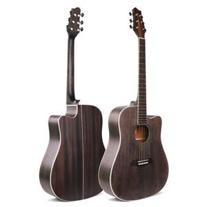 Guitarra acústica de corda de aço guitarra acústica de madeira de 41 polegadas de alto desempenho