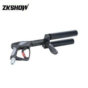 New LED CO2 DJ Gun Pistol Machine Gas Hose Night Club Disco Show Concert Professional Stage Light Equipment 230V Free Shipping