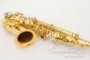 Professionnel de haute qualité Suzuki A901 plaqué or Saxophone Alto Eb Tune Sax E Flat Double Tendons Instruments de musique pour les débutants