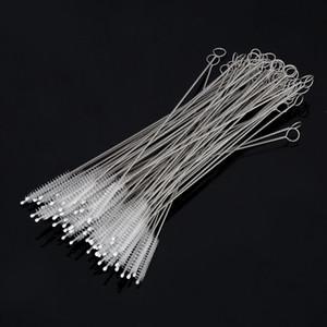 Cepillo de la paja del acero inoxidable del catéter de nylon del cepillo de la paja 100pcs / lot 17.5cm cabido para las pajuelas del diámetro de 6m m