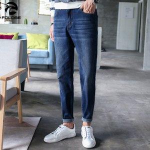 FOLOBE Jeans para hombres pantalones slim fit pantalones vaqueros clásicos mezclilla masculina Pantalones de diseñador Pantalones rectos y elásticos rectos