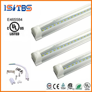 LED Tube 8FT V Shaped 4 Feet 5FT 6FT 8Feet LED T8 Integrated Tube Cooler Door Double Sides SMD2835 LED Fluorescent Tube Light