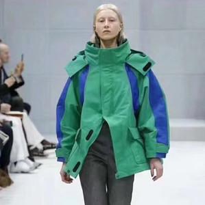 Lüks Avrupa Casual Göster Çıplak Omuz Trençkot Erkekler Ve Kadınlar Ceketler Kalın Ceket Adam Ve Kadınlar Yüksek Kalite Ceket HFBYJK028