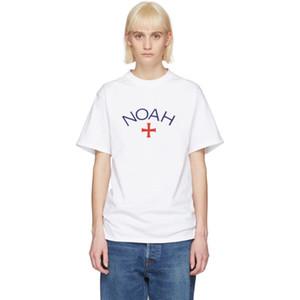 18SS NOAH Cruz camiseta clásica respirable del verano camiseta fresca ocasional de la manera simple Hombres Mujeres Calle color sólido de manga corta HFYMTX270
