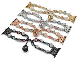 Bracelet pour Apple Watch Bracelet pour perle lumineuse de génération 1/2/3/4 iwatch Bracelet pour bracelet Bead Watch 38MM 42MM