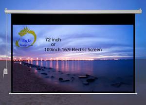 72 pouces ou 100 pouces 16: 9 ou 4: 3 Rideaux électriques Écran motorisé pour tous les écrans à LED LCD DLP Projecteur laser Écran de projecteur électrique