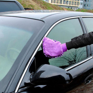 Auto Reinigungshandschuhe Mikrofaser Chenille Waschhandschuhe Coral Fleece Anthozoan Auto Schwamm Waschlappen Autopflege Reinigung 21 * 16 CM HH7-804