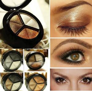 Sombra de olho 3 Cores de Maquiagem Naked Paleta Eyehsadow 8 Estilo Smoky Cosméticos Definido Profissional Fosco Natural Make Up Glitter bbo