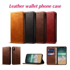 Neuer PU-lederner Mappen-Kasten-Karten-Kickstand für iPhone X / 8/7 / 6s für Samsung klappen magnetischen Telefon-Kasten mit Kleinpaket-freiem Verschiffen