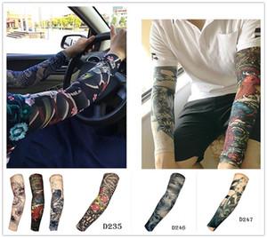 Elástico Falso tatuagem temporária manga 3D arte projeta corpo braço perna meias tatoo legal X130