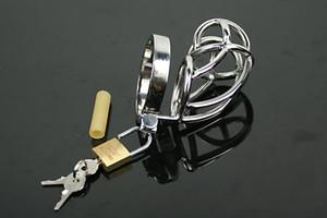 Gabbia corta super corta Cintura di castità maschile Dispositivo cinture di bloccaggio per pene Giocattoli adulti di sesso maschile per uomo