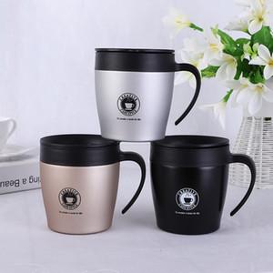 Logotipo personalizado 50 pcs 330 ML isolado caneca de café com alça de Aço Inoxidável Isolado a vácuo 12 oz xícara de café com colher copo de água do escritório