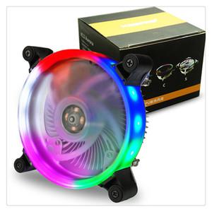 Nouveau Haute Qualité 12 cm Heatpipes CPU Cooler LED CPU Dissipateur De Chaleur En Aluminium Fan Coloré Belle Vente Chaude