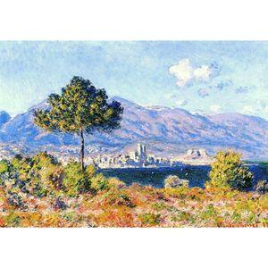 Handgemachte Ölgemälde Claude Monet Blick auf Antibes aus dem Plateau Notre-Dame Leinwandbild für Wanddekoration Hohe Qualität