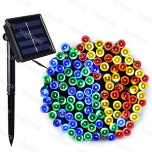 Solaire Jardin Lampes LED chaîne 22M 12M 200 100 LED RGB seule couleur Multicolor 2 Mode pour Noël Garden Holiday DHL