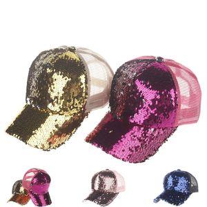 뒤집을 매직 스팽글 포니 테일 캡 머메이드 포니캡 거친 롤빵 포니 테일 캡 로고없이 포니 테일 Snapbacks LC865 조정 가능한 야구 모자