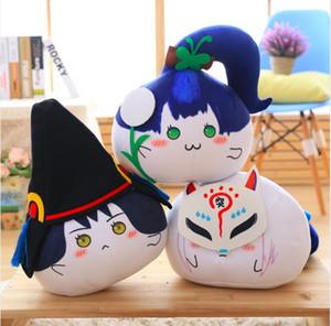 35 cm Anime japonés Onmyoji Bodhidharma Onmyouji muñecos de peluche rellenos almohada juguetes niños hombres regalo de cumpleaños colección