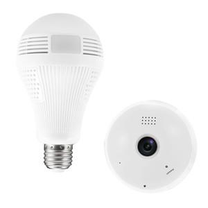 360 Derece cctv ürünleri 1.3 M VR Ampul Işık IP Kamera WIFI Mini 960 P HD Kablosuz CCTV Sistemi Desteği 128 GB TF Kart