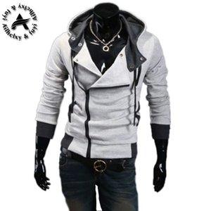후드 티 남성 스웨터 남성 트랙 수트 후드 자켓 캐주얼 남성 후드 자켓 moleton Assassins Creed M-6X