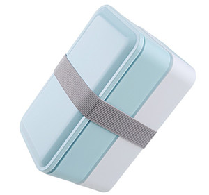 3 colori 1000ml Doppio strato contenitore di conservazione degli alimenti Forno a microonde Pranzo Bento Boxes Stoviglie Lunchbox BPA gratuito