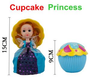 6 teile / schachtel große magische cupcake duftende prinzessin puppe reversible kuchen verwandeln in prinzessin puppe baby puppen 15 cm höhe