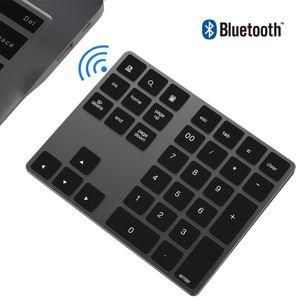 USB Numeric Keyboard Mini 34key Bluetooth Numeric Keypad Aluminum Digital Keypad For Apple Desktop Laptop Computers Dropshipping