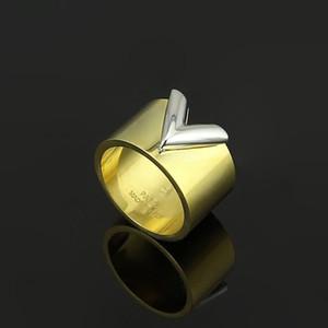 Yeni moda jewerly ünlü marka paslanmaz çelik 18K altın kaplama şerit aşk Yüzük İçin Kadınlar adam düğün yüzükleri Rose Gold kaplama takılar