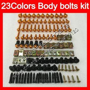 parafusos carenagem kit de parafuso completo para a Kawasaki ZXR400 91 92 93 94 95 96 ZXR400 ZXR 400 1991 95 1996 25Colors kit de parafuso de porcas do corpo parafusos de porca