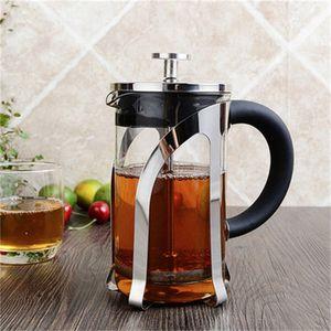 Praktische Glaskaffeetopf Hitzebeständige Edelstahlgriff Tee-ei Filter Maker Filter Druck Typ Küche Zu Einfach Tragen 39gc cc