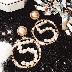 Женщины NO5 серьга жемчуг Pearl Количество серьги стержень подарки для любви Подруги Мода ювелирных аксессуаров высокого качества
