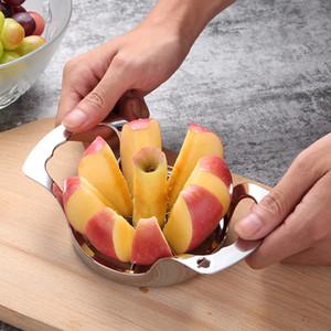 Multi-fonction En acier inoxydable Apple cutter Trancheuse Poire Diviseur Fruits Légumes Outils Corer 304 Grade 8 lames Splitter Cuisine Outil Gadget