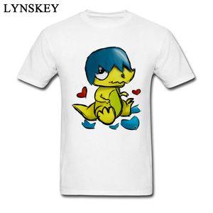 Lovely Baby Dinosaur Hatching Men's Cartoon Design T Shirt Wholesale O-neck Tops Cotton Tee Shirts Short Sleeve